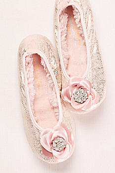 Ballerina Slipper with Crystal Embellished Rose OLYMPIA