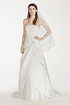Satin Drop Waist Wedding Dress with Side Split OP1245