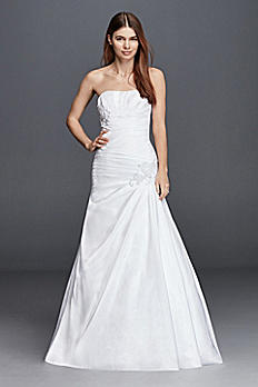 Plus Size Strapless Side Draped Wedding Dress OP1247