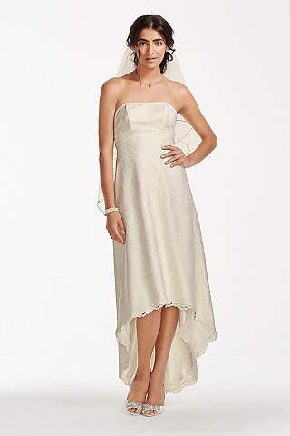 Short Sheath Country Wedding Dress