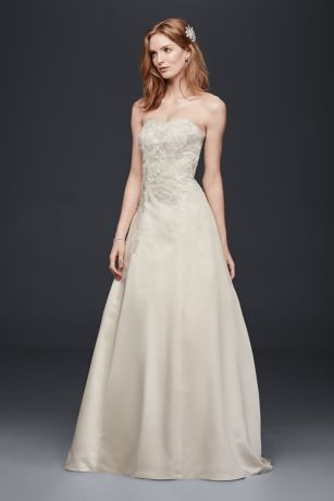 Satin a Line Wedding Dress