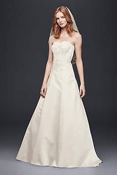 Strapless Satin A-Line Wedding Dress