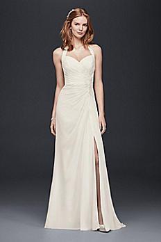 Halter Sheath Wedding Dress OP1264