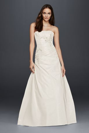 ruched trumpet beaded waist wedding dress