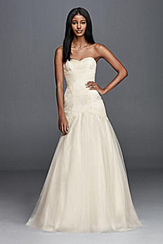 Trumpet Wedding Dress with Lace Appliques OP1267
