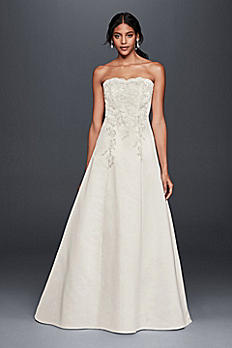Strapless A-Line Wedding Dress with Lace Appliques OP1272