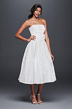 Lace Tea-Length Drop Waist Wedding Dress OP1284