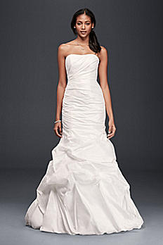 Taffeta Mermaid Wedding Dress with Skirt Pickups OP1289
