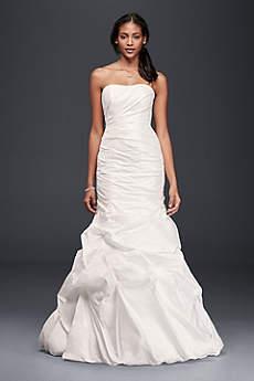 Taffeta Mermaid Wedding Dress with Skirt Pickups