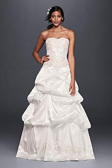 Strapless Satin Wedding Dress with Skirt Pick-Ups
