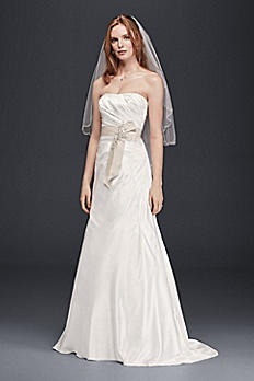 Charmeuse A-Line Strapless Wedding Dress OP1292