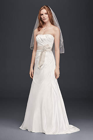 Champagne-colored wedding dresses