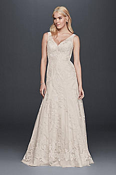 Sleeveless Tulle and Lace A-Line Wedding Dress OP1297
