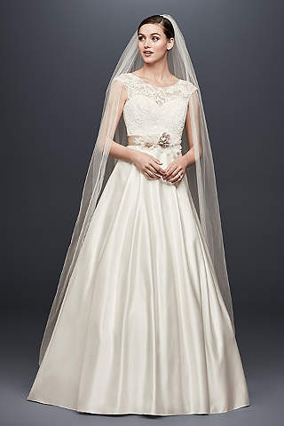 Liqued Cap Sleeve A Line Wedding Dress