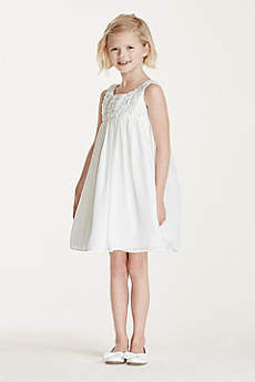 Short Sheath Tank Communion Dress - David's Bridal