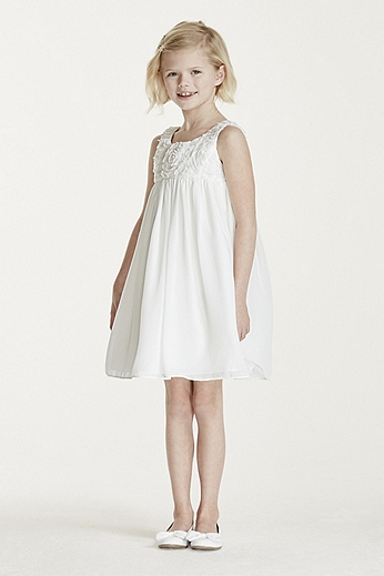 Tank Sheath Dress with 3D Floral Bodice OP219