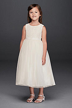 Lace and Mesh Tank Flower Girl Dress OP222