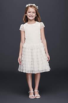 Short A-Line Cap Sleeves Dress - David's Bridal