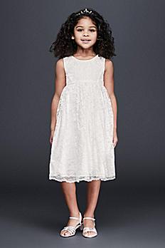 Empire-Waist Lace Flower Girl Dress OP232