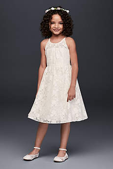 Short A-Line Halter Dress - David's Bridal Collection