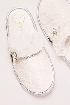 Pretty You London Pink Slippers (Mule Slipper with Crystal Embellishment)