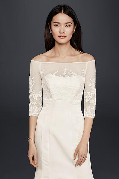 Ivory Wedding Jackets &amp- Wraps - David&-39-s Bridal
