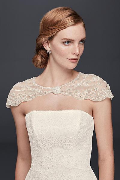 Wedding Jackets- Shawls- &amp- Bridal Wraps - David&-39-s Bridal