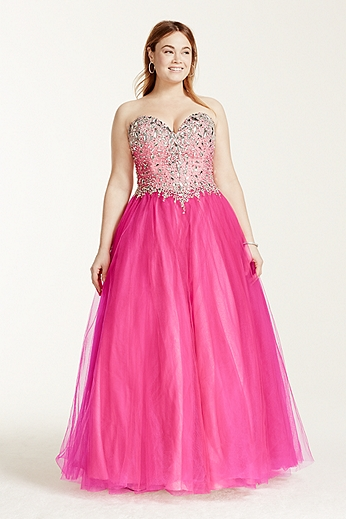 Crystal Embellished Sweetheart Bodice Ball Gown P1631W