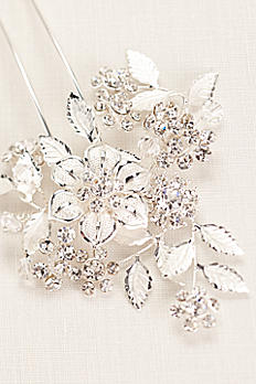 Floral and Crystal Motif Hairpin P9082