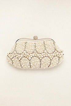 Expressions NYC Mixed Pearl and Crystal Clutch PERLA