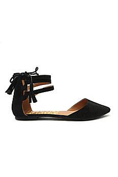 Tassled Ankle-Strap Flats PIKA66