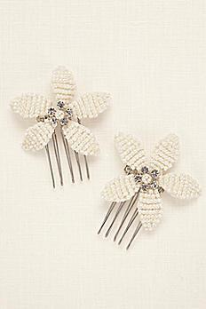 Pearl Flower Duo Hair Combs PMS25153