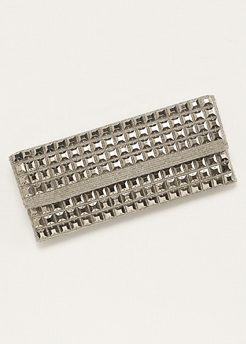 Expressions NYC Pyramid Beaded Clutch POLY