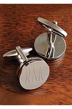 Personalized Pin Stripe Cuff Links GC797