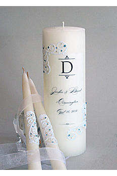 Personalized Piazza Lace Unity Candle Set PL2CSET
