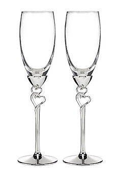 Personalized Entwined Hearts Flutes DBK7954P