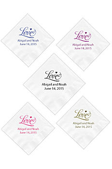 Personalized Design White or Ecru Beverage Napkin NAPKINBDWE