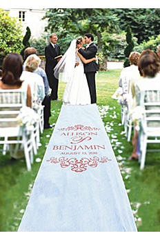 Personalized Watercolor Victorian Aisle Runner 60-514