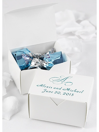 Personalized Initial Favor Boxes Pack of 50 DBK61MP