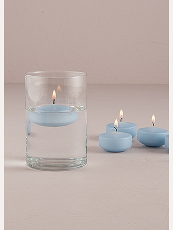 Colored Floating Candles Pack of 6 4020