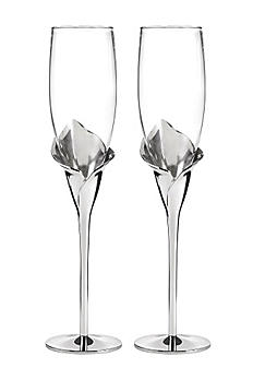 Personalized Gleaming Calla Lily Flutes DBK11191P