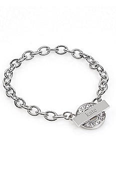 Personalized Rhinestone Toggle Bracelet B9161S