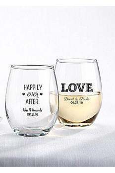 Personalized Stemless Wine Glass 30009NA