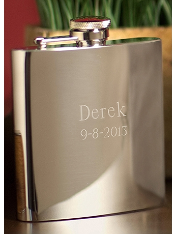 Personalized Stainless Steel High Polish Flask GC178