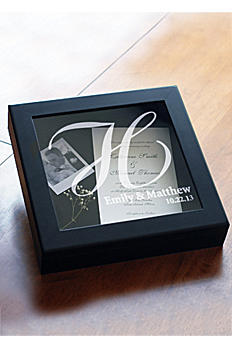 Personalized Wedding Keepsake Shadow Box 3918