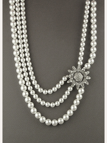 Triple Strand Pearl Necklace 23504002