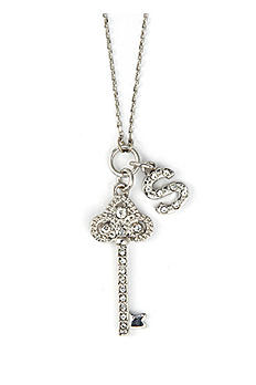 DB Excl Personalized Fleur De Lis Key Necklace NL3305