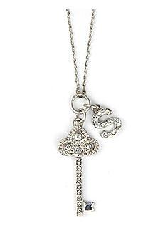 DB Excl Personalized Fleur De Lis Key Necklace NL3305