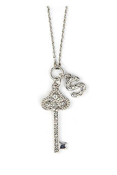 DB Excl Personalized Fleur De Lis Key Necklace