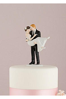 Personalized Swept Up in His Arms Cake Topper 9353